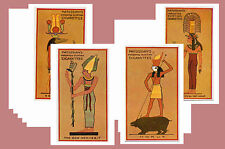 ANCIENT EGYPTIAN GODS (1924) - CIGARETTE CARD POSTCARD SET # 1