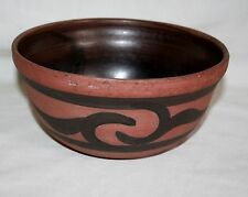 """ANTIQUE LARGE  9"""" CLIFTON INDIAN COOKING WARE POTTERY BOWL (CIRCA 1904 -1911)"""