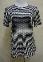 Süßes GERRY WEBER Kurzarm Stretch - Shirt  schwarz - weiß - gestreift  Gr. 36