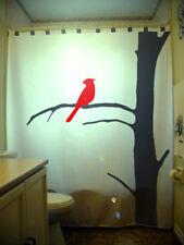 Bathroom Shower Curtain Cardinal Red Bird Tree Branch Dead Oak kid custom