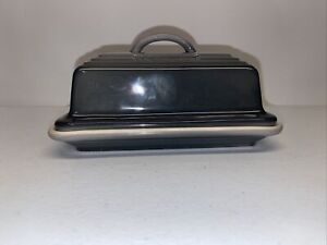 Le Creuset Heritage Large Butter Dish Oyster Gray Grey New without box