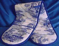 PIMPERNEL SPODE BLUE ITALIAN DOUBLE OVEN GLOVE OR MITT