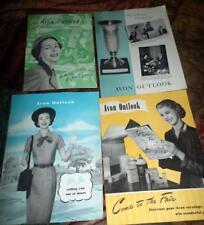 Avon Outlook Magazines in the Year 1955 6 Magazines Ephemera Scrapbooking