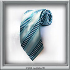 Silk Handmade Jackquard French & Baby Blue Groom Business Formal Striped NeckTie