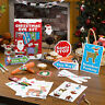 CHILDREN'S CHRISTMAS EVE CRAFT/ACTIVITY KIT -Santa Stop Here Signs, Paper Chains