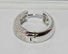 MEN'S SOLID STERLING SILVER (925) LARGE CHUNKY HUGGIE / HOOP SINGLE EARRING