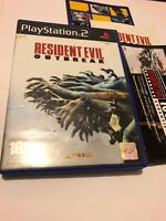 😍 boitier boite vide playstation 2 jeu ps2 pal fr resident evil outbreak