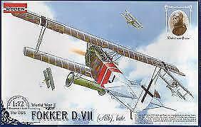 Fokker D.VII   ALB Late       German Biplane  world war 1             1/72 Roden