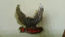 Triumph British Bikes Logo with Eagle with wings up Pin Pin's