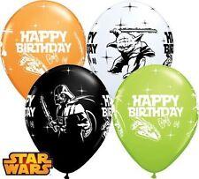 "5 x Star Wars Happy Birthday Balloons - 11"" latex Qualatex Party"