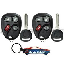 2 Replacement Remote Key Fob Set for 2001 2002 2003 2004 2005 Chevy Malibu