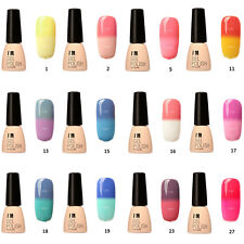 12 Farben Thermo Effekt Nagellack Farbwechsel Color Changing Nail Polish Gel GE