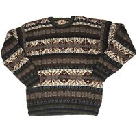 Vtg Woolrich Sweater Mens L Bill Cosby Biggie Smalls Coogi Style Chunky Knit