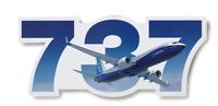 NEW Boeing 737 Sticker, UPC# 585085030044