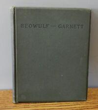"""1899 """"Beowulf"""" written by James Garnett hardcover book"""