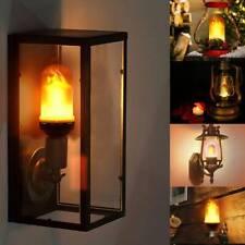 B22 6W LED Burning Light Flicker Flame Classical Lamp Bulb Fire Effect Decor UK
