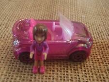 Polly Pocket Wheels Race to the Mall Cars Origin Mini Drivers Pink Convertible