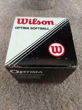 Wilson Optima Softball Brand New In The Box 2 Balls