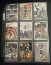 RARE COLLECTABLE 1994 CAZALY CLASSICS GOLD SET OF 9 AFL FOOTBALL TRADING CARDS