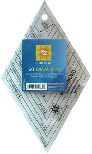 EZ QUILTING 60 DEGREE DIAMOND TEMPLATE – PATCHWORK, QUILTING - q16 - TUMBLING