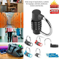 4-Dial Digit Code Combination Padlock Travel Suitcase Gym Locker Security Lock