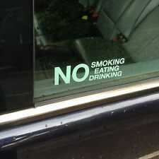 2 X NO SMOKING EATING DRINKING STICKERS GOOD QUALITY SIGN STICKER