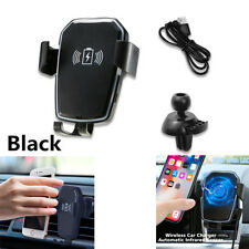 Ca Qi Wireless Charger Car Mount Holder For iPhone XS Max XR X 8 Samsung S9 S8