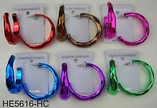 Wholesale Jewelry lots 6 pairs Fashion  Color Hoop Earrings US-SELLER  MM-38