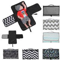 Portable Baby Folding Diaper Travel Changing Pad Waterproof Mat Bag Storage t