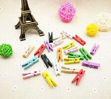 300pz Mini mollette in legno MULTICOLOR 3cm decorazione accessori bomboniera