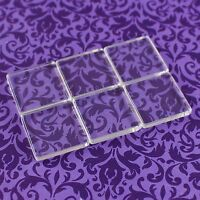 """20 Square Glass Tiles - 1 Inch Clear - Craft Necklaces Pendant Cabochon 1"""" 25mm"""