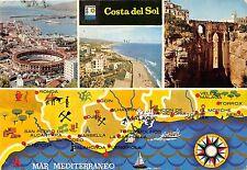 BG6132 costa del sol mar mediterraneo map cartes geographiques   spain
