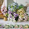 15 Heads Silk Artificial Flowers Fake Bouquet Buch Wedding Home Party Decor New