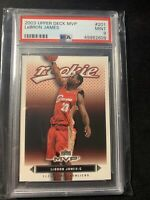 2003 Upper Deck MVP Rookie LeBron James #201 PSA 9 MINT RC GOAT