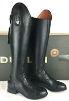 Dublin Holywell boots ladies tall field black leather spanish cut riding 6 NWT