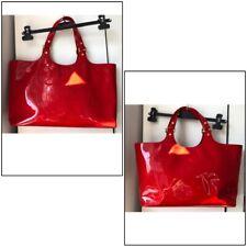 Tory Burch Handbag Red Vernis Patent Leather-