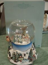 Partylite Snow Globe P7922 Olde World Village Tealight Holiday Christmas Musical