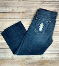 Seven For All Mankind Men's Argyle Dark Faded Whiskered Jeans 36 37 x 27 *Read