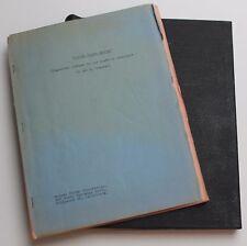 Virgin Island Mutiny *1951 Unproduced Movie Script by Hal E. Chester, Film Noir?