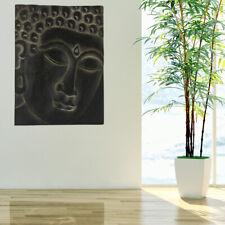 Wand Bild Schlaf Zimmer Asien Buddha Flur Dekoration Motiv Leinwand Holz Albasia