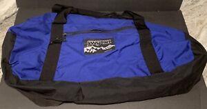 Vintage Jansport USA Made Blue Duffle Carry On Gym Weekend Bag Adj ShoulderStrap