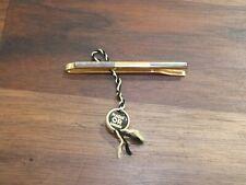 Épingle - Pince à cravate plaquée or et nacre - état neuf