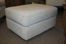 G PLAN CREAM FABRIC STORAGE FOOTSTOOL (030)
