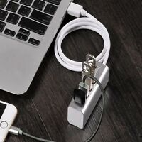 4 Port Aluminum USB 2.0 HUB Splitter High Speed For PC Laptop Mac iMac MacBook
