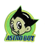 ASTRO BOY GREEN Iron on Patch Embroidered Badge Sew Cartoon TV PT2