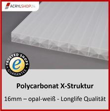 Stegplatten Doppelstegplatten Hohlkammerplatten X-Struktur PC opal - weiß 16 mm