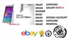 Galaxy Note 4 N910 Removal Google Lock, Samsung Account Bypass, FRP Lock Bypass