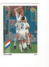 ALEXI LALAS Rare  UPPER-DECK '94 WORLD CUP CARD with USA