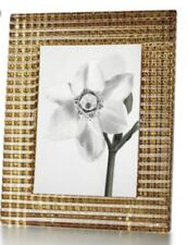 "BACCARAT GOLD  EYE PHOTO FRAME / CADRE OR   5 X 7 H 9"" MSRP $370 NEW"