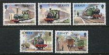 JERSEY MNH UMM STAMP SET 1985 SG 365-369 RAILWAY HISTORY 2ND SERIES CORBIERE